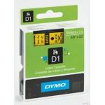 Taśma DYMO D1 - 9 mm x 7 m, czarny / żółty S0720730 do drukarek etykiet