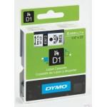 Taśma DYMO D1 - 6 mm x 7 m, czarny / biały S0720780 do drukarek etykiet