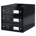 Pojemnik z 3szufladami czarne LEITZ C&S 60480095