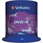 Płyta VERBATIM DVD+R cake box 100 4.7GB 16x Matt Silver