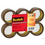 S5066F6 brown Taśma pakowa Scotch®, akrylowa, brązowa, 50mm x 66m