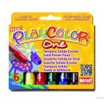 Farby w sztyfcie Playcolor one pudełko 6 kolorów