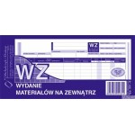 WZ wydanie materiałów na zewnątrz MICHALCZYK I PROKOP 1/3 A4 80 kartek