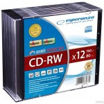 CD-RW ESPERANZA x12 - Slim 1szt