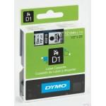 Taśma DYMO D1 - 12 mm x 7 m, czarny / przezroczysty S0720500 do drukarek etykiet