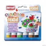 Farby w sztyfcie Playcolor textil one 6 kolorów