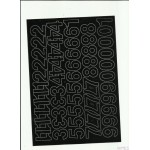 LITERY samoprzylepne 3cm (8szt) białe ARTDRUK