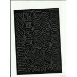 LITERY samop. 3cm (8) czarne ARTDRUK