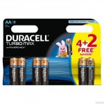 Bateria Turbo AA/LR6 K4+2 DURACELL 4097698/4530155