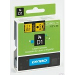 Taśma DYMO D1 - 12 mm x 7 m, czarny / żółty S0720580 do drukarek etykiet