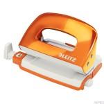 Dziurkacz Mini LEITZ WOW metalowy LEITZ, pomarańczowy metalik