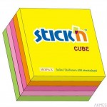 Notes samoprzylepny 76mmX76mm mix 5 kolorów neonowych 400 kartek STICK'N
