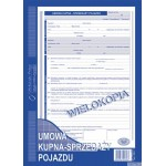 Umowa kupna - sprzedaży pojazdu MICHALCZYK I PROKOP A4 40 kartek