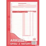 341-1 Arkusz spisu z natury A4