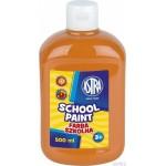 Farba szkolna Astra 500 ml - pomarańczowa