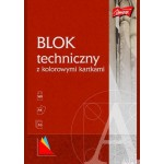 Blok tech kolor A4