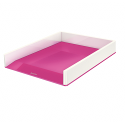 Półka na dokumenty Leitz WOW dwukolorowa, różowa