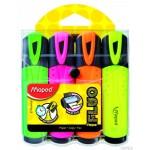 Zakreślacz Fluo peps mix kolorów 4 szt etui z zawieszką Maped