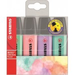 Zakreślacz STABILO BOSS ORIGINAL, kolory pastelowe, komplet 4 szt. 70/4-2