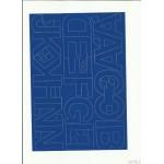 LITERY samoprzylepne 5cm (8szt) niebieski ARTDRUK