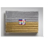 Bibuła marszczona 25x200cm, MIX złoty/srebrny, 10 rolek, 2 kol HA 3640 2521-MIX1181 Happy Color