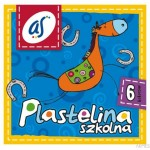 Plastelina szkolna'AS' 6kol. ASTRA