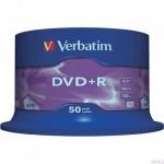 Płyta VERBATIM DVD+R cake box 50 4.7GB 16x Matt Silver