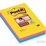 Karteczki samoprzylepne Post-it® Super Sticky w linie, paleta Rio de Janeiro, 101x152mm , 3x90 kartek 70005271971