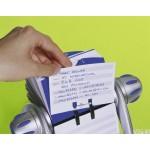Kartoteka obrotowa TELINDEX® flip na 500 wizytówek srebrna