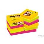 Karteczki samoprzylepne Post-it® Super Sticky, paleta Rio de Janeiro, 47,6 x 47,6mm , 12x90 kartek 622-12SS-RIO 70005271518