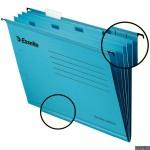 Teczka zawieszana z przekładkami Esselte Classic A4, niebieska 93133