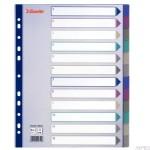 Przekładki plastikowe Multicolor PP, A4 Maxi - 12 kart ESSELTE