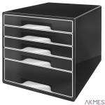Pojemnik z 5 szufladami Leitz Black&White,cza ESSELTE 52530095