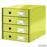 Pojemnik z 4szufladami zielony LEITZ C&S WOW 60490064