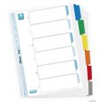 Przekład. kart.A4+ MYLAR 6 kart. 100204992 wzm. kolorowe indeksy ELBA