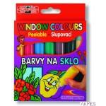 Farby witrażowe 9738 5kol+2kon 10.5ml KIN
