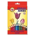 Kredki Omega Jumbo 3372-12kol KOH.