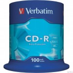 Płyta VERBATIM CD-R cake box 100 700MB 52x Extra protection