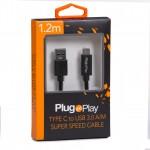 Kabel TYP-C/USB 3.0 1.2M PP-TPCTU3001 PLUG&PLAY