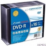 DVD-R ESPERANZA 4.7GB x16 SLIM CASE 10 SZT. 1112 ESPERANZA