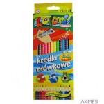 Kredki ołówkowe trójkatne 12kol.Premium Kolor TT7225