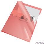 Ofertówka krystaliczna ESSELTE A4 (25) czerw 150mic 55433 PVC