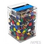 Pinezka kolorowa (750) 3751 E&D plastikowe pudełko