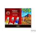 Farby akryl.6kol.14ml. 162701 KOH-I-NOOR