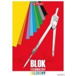 Blok techniczny A4 10kartek kolorowy 0009561945 HERLITZ