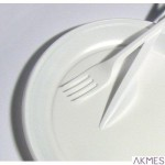 Talerzyki jednorazowe 22cm(100 ) białe 16379