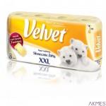 Papier toal.VELVET(8) żółty /XXL 3-wars.