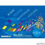 Blok techniczny A4/10k z kolor.kartkami KRESKA