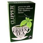 CLIPPER Zielona herbata z żeń-szeniem 20 torebek Fair Trade 40g