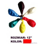 Balony 12 METALIK czerw.(100) KW TRADE 170-1588